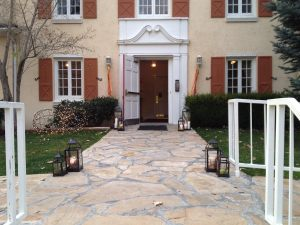 Front entrance in autumn
