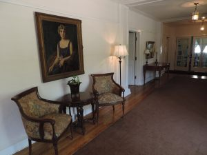 Entryway with portrait