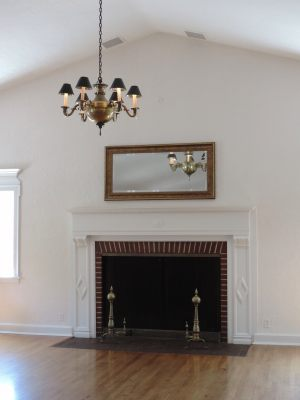 Fireplace without decorations