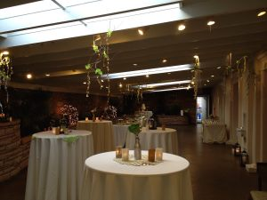 Garden Room with decor and cabaret tables