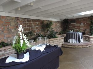 Garden room catering set-up