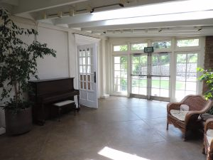 Garden Room with piano